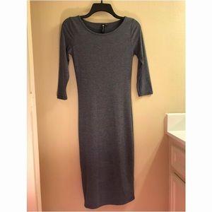 Gray, casual, body con dress.